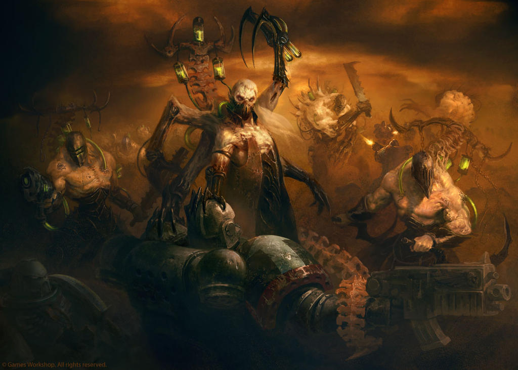 Coven force vs Raven Guard by Manzanedo