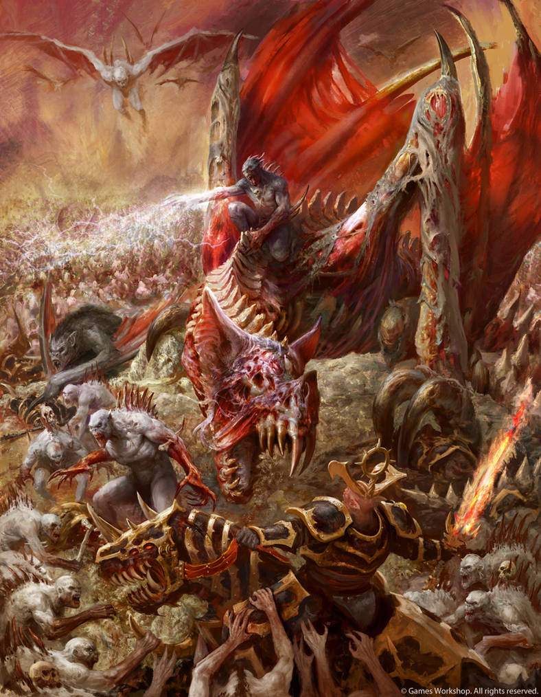 Abhorrant Ghoul King on Terrorgheist by Manzanedo