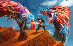 Quetzalcoatl by Manzanedo