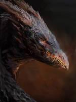 Dragon head study by Manzanedo