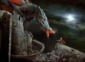 Hunter dragon by Manzanedo