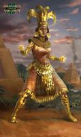 Sun Priestess by Manzanedo