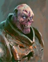 Zombie warrior by Manzanedo