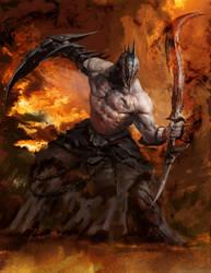 Infernal warrior by Manzanedo