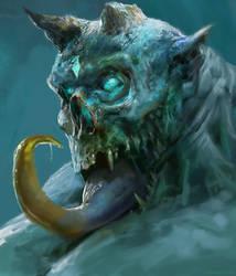 Demon Head II by Manzanedo