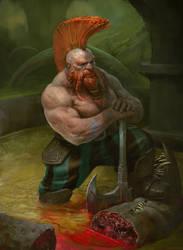 Giant sewer worm by Manzanedo