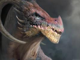 Dragon head by Manzanedo