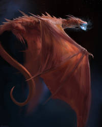 Red Dragon study by Manzanedo