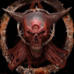 Demon skull by Manzanedo