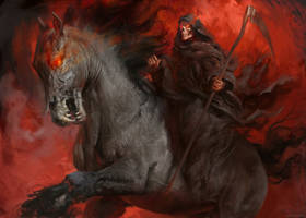 Death on the Pale Horse by Manzanedo