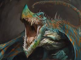 Multicolored Dragon by Manzanedo