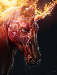 Nightmare Unicorn by Manzanedo