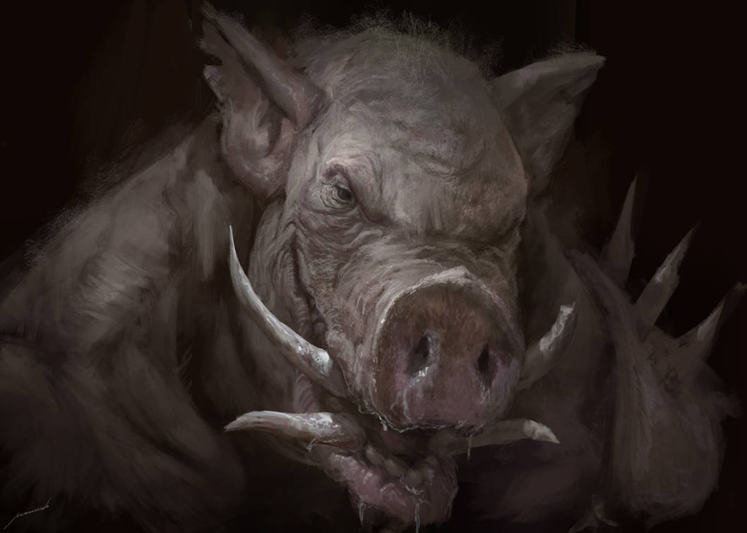 Creepy Pig with Stitches
