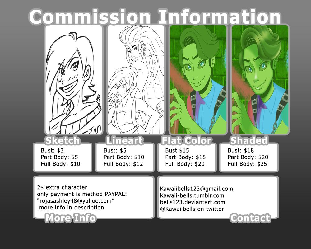 KawaiiBells Commission Info! by bells123