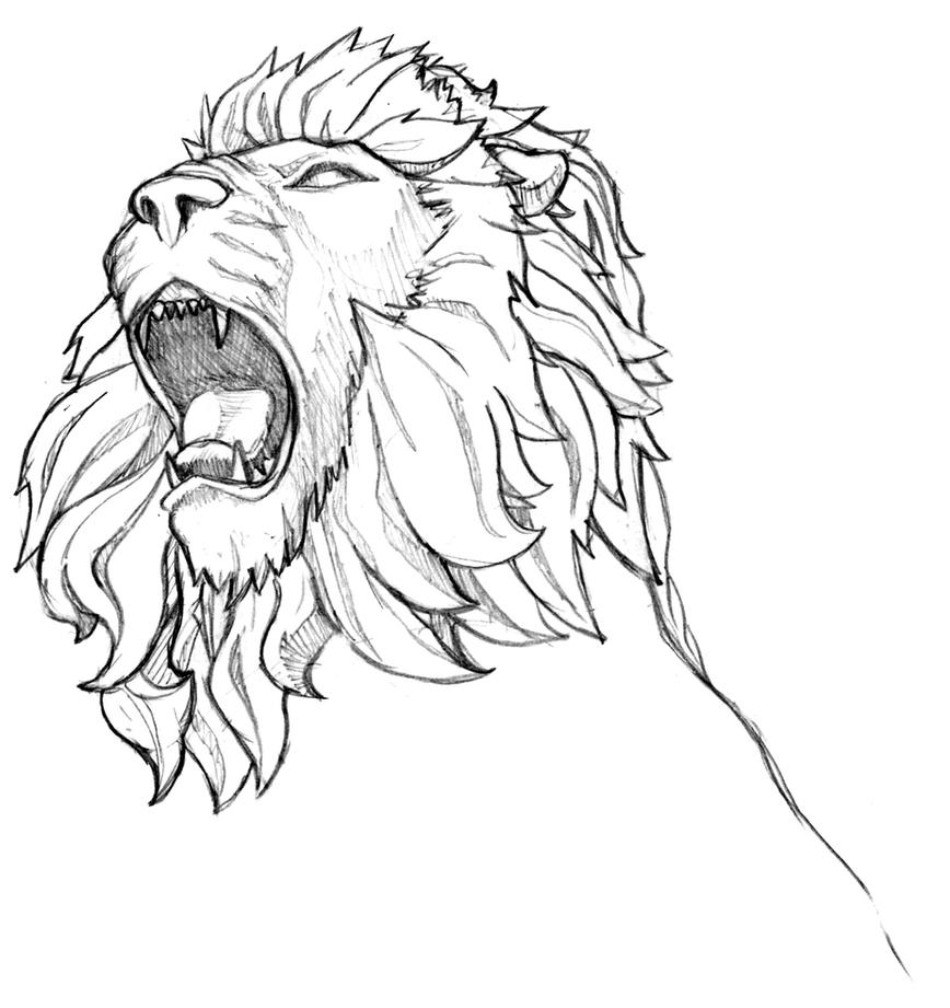 Lion Drawing Tattoo For - lion sketch tattoo