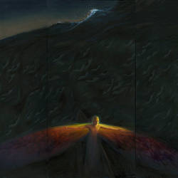 Bitter Ocean (2018) oil on canvas, 104 x 144 in