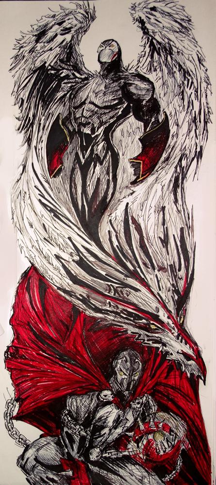 Spawn Inspired Sleeve Tattoo Design By TamiTw On DeviantArt