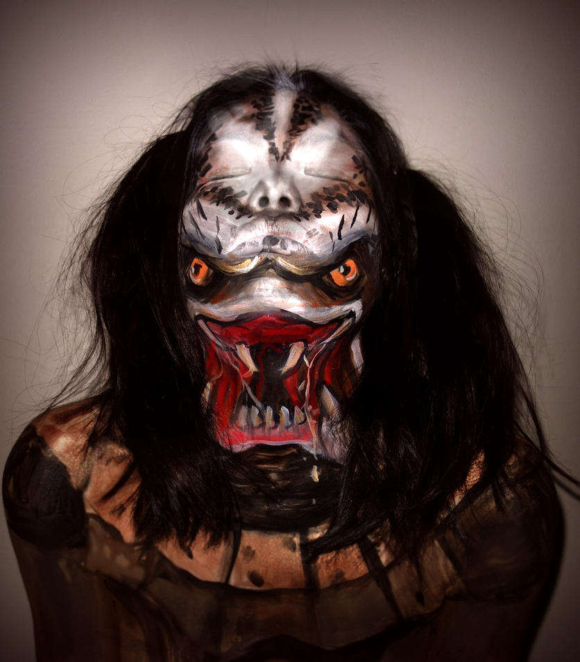 Predator Face Paint by TamiTw
