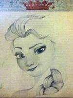 Elsa WIP by xxcharlotteoxx