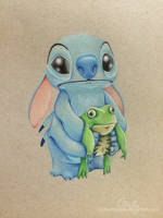 Stitch and the frog by xxcharlotteoxx