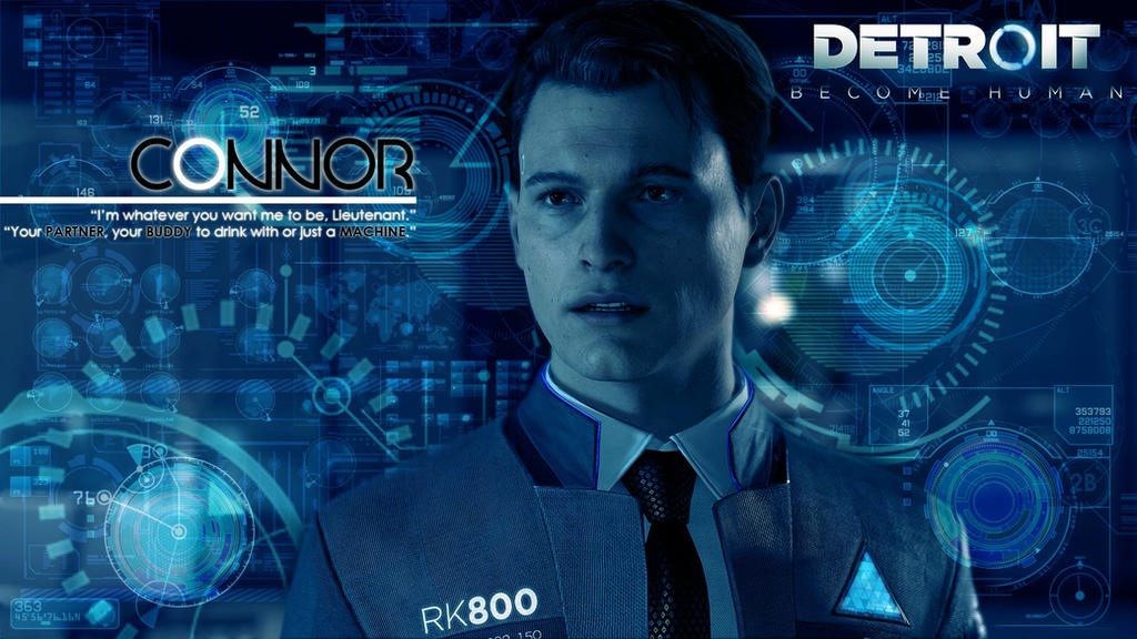 Detroit Become Human Connor Wallpaper: Wallpaper CONNOR (Detroit: Become Human) By Jettet On