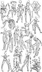 Female Power Poses -Anatomy 2 by OryxPixie