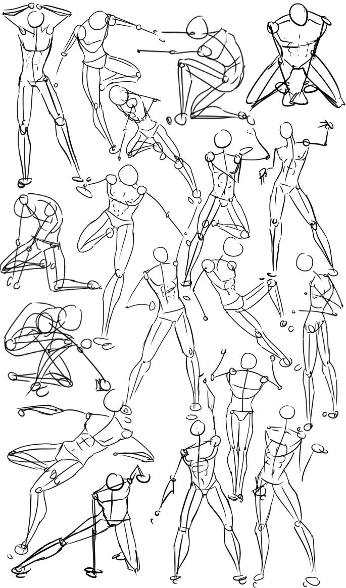 Male Power Poses Anatomy By Oryxpixie On Deviantart