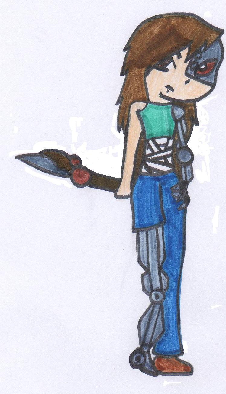 half robot half girl by MissShadowQueen on deviantART