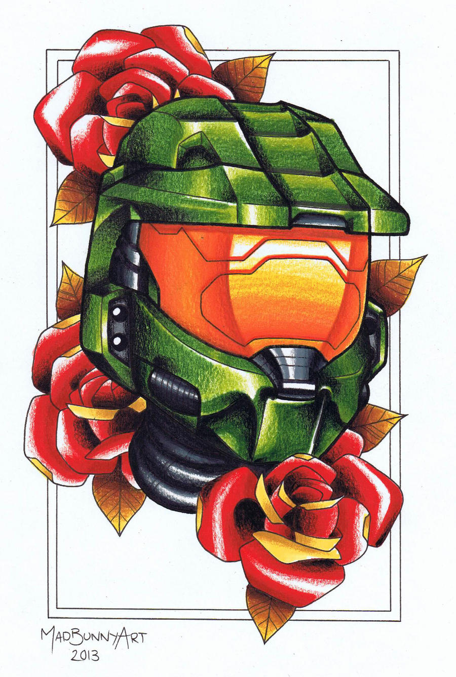 halo masterchief tattoo flash by madbunnyart on deviantart. Black Bedroom Furniture Sets. Home Design Ideas