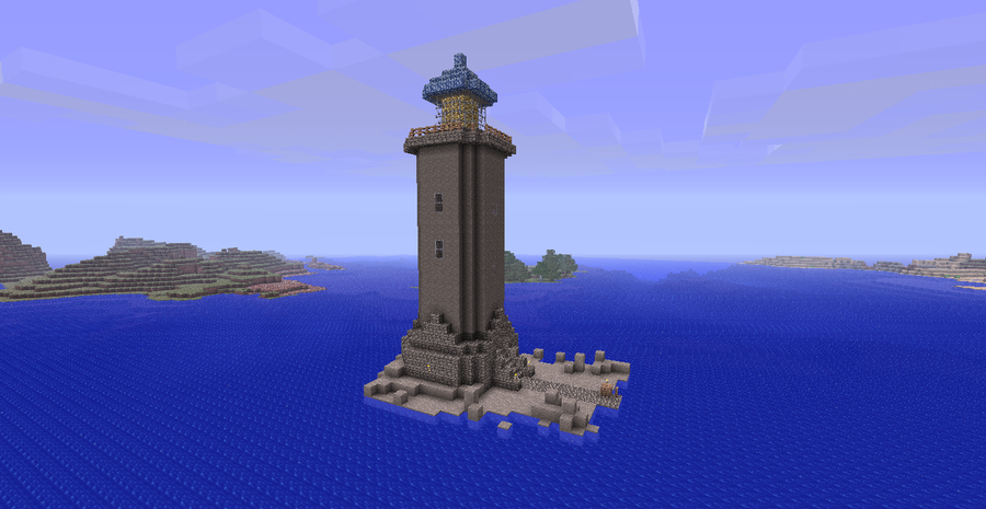 Minecraft Lighthouse By 3dspammer On Deviantart