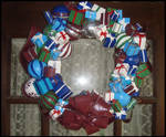 Ornament and Present Wreath