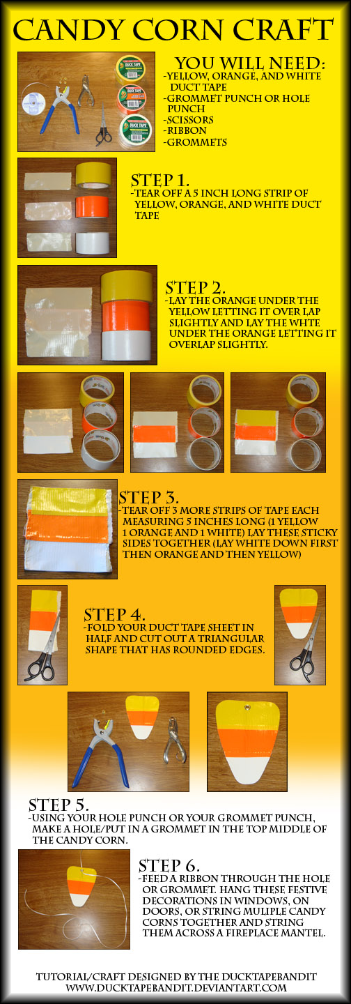 DT Candy Corn Craft Tutorial by DuckTapeBandit