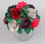Vase of Duct Tape Roses