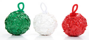 Duct Tape Crinkle Ornaments
