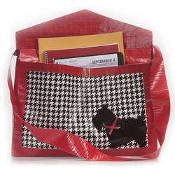 Duct Tape houndstooth bag