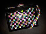 polka dot duct tape messenger bag