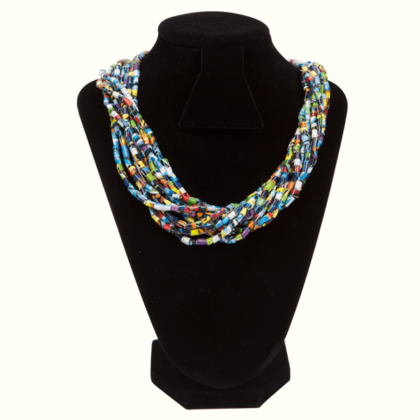 Duct Tape Beaded Neckalce by DuckTapeBandit