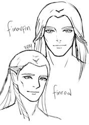 Finarfin and Finrod by Bacusae
