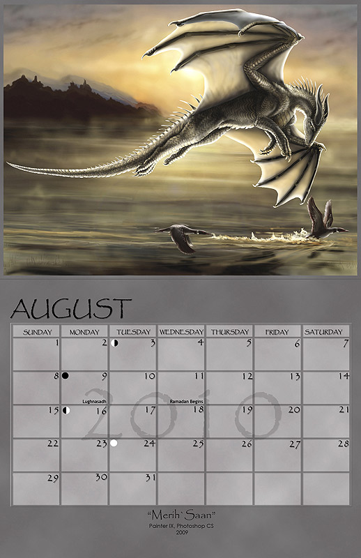 2010 Fantasy Art Calendar by silvermoonnw