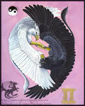 Gryphon Tarot: The Lovers by silvermoonnw