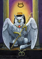 Gryphon Tarot - The Hierophant by silvermoonnw