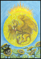 Gryphon Tarot: The Sun by silvermoonnw