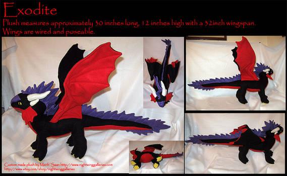 Exodite Dragon Custom Plush by silvermoonnw