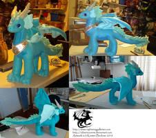 Eira - Custom Dragon Plush Commission by silvermoonnw