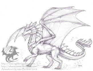 Eira - Custom Dragon Plush Commission Bonus Sketch by silvermoonnw