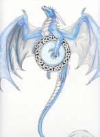 Dragon knotwork tattoo by silvermoonnw