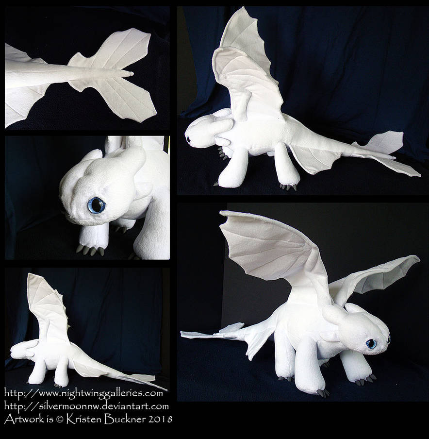 Lightfury Plush by silvermoonnw