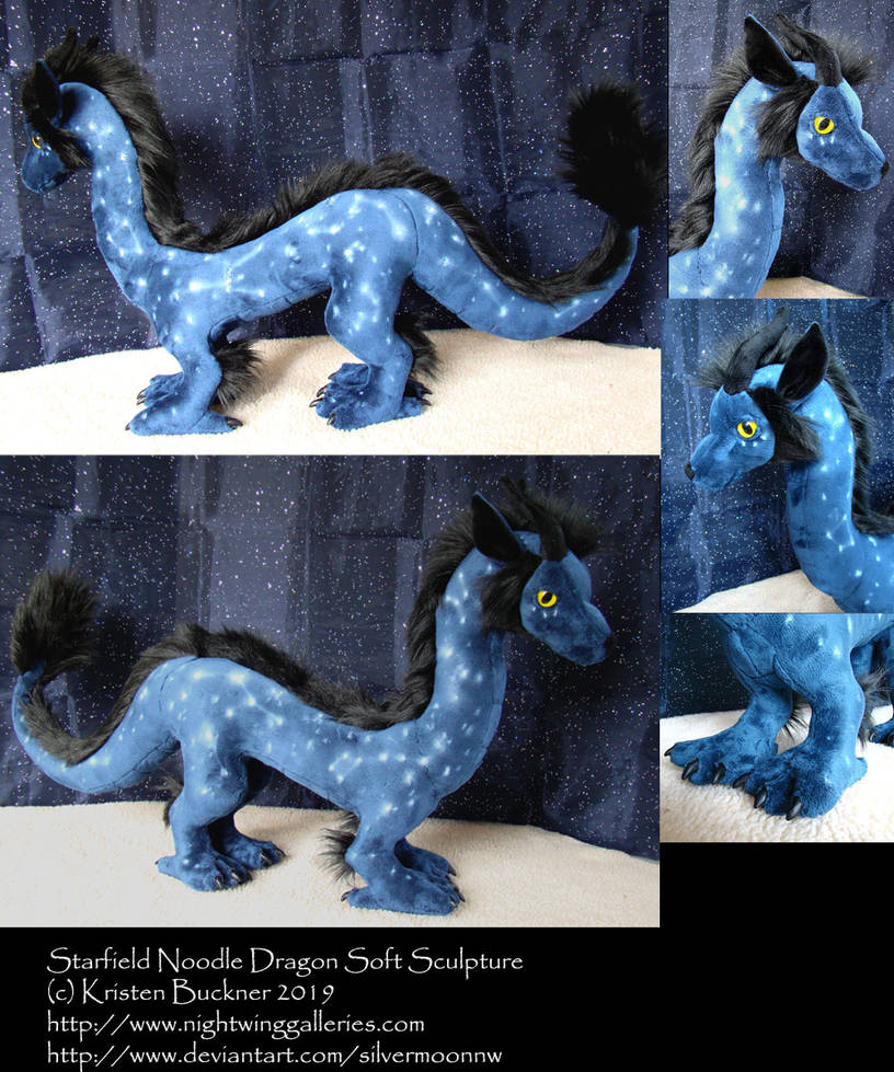 Starfield Noodle Dragon Plush Commission by silvermoonnw