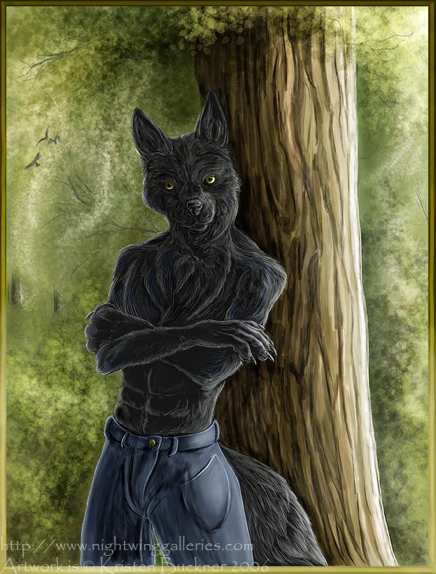 Ebon Jackal by silvermoonnw