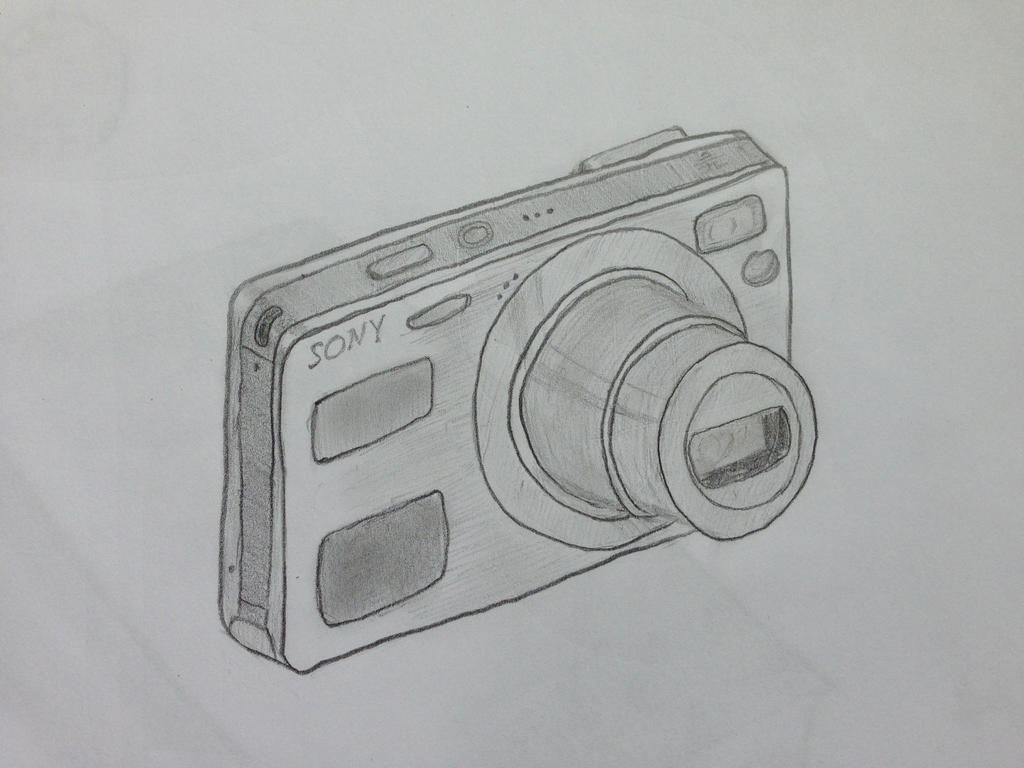Camera Sketch Drawing By Jonas Jaeger